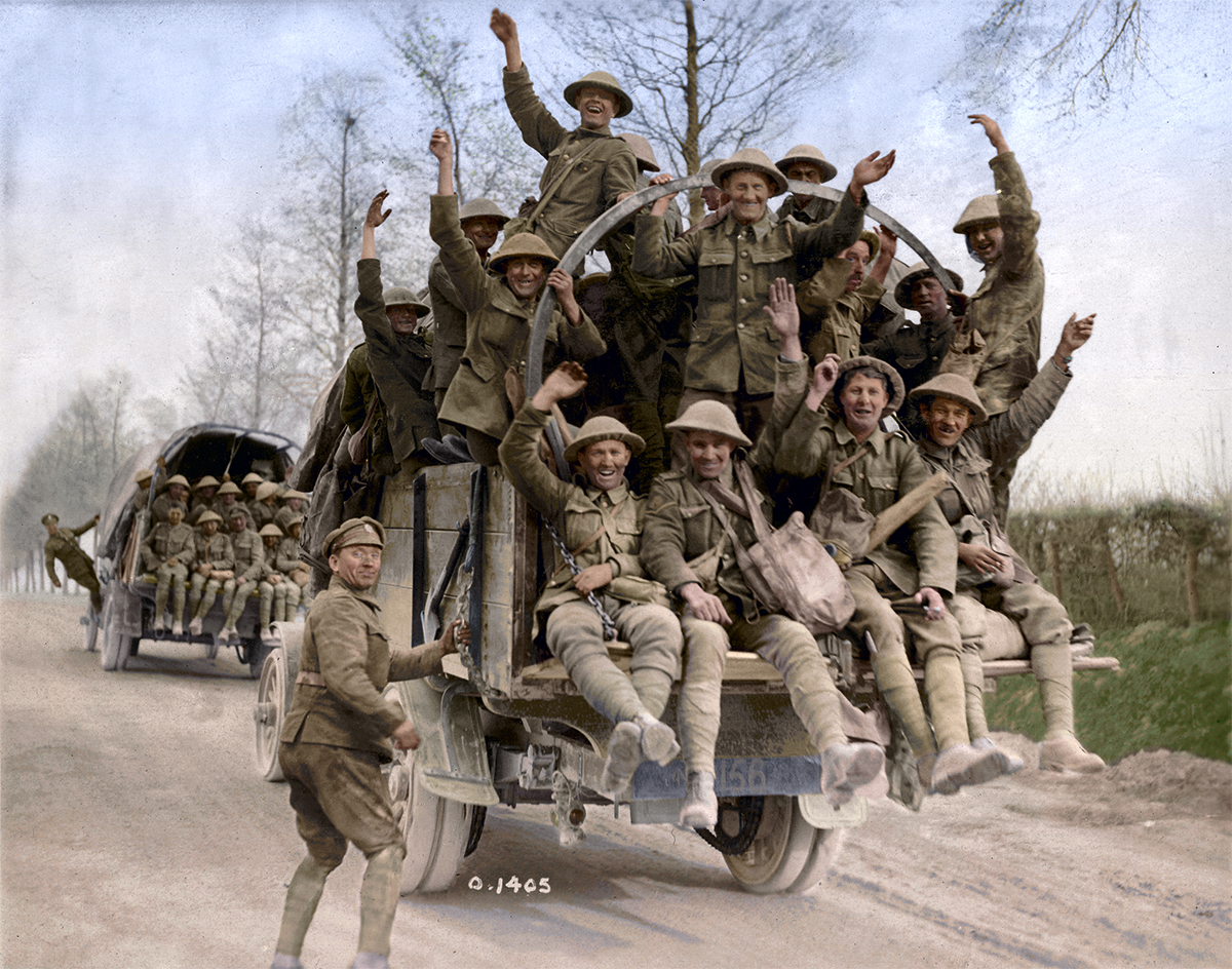 Canadian soldiers returning from Vimy Ridge Wwii Soldiers Returning Home