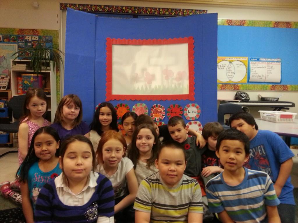 Grade 3 class, Joamie School; Iqaluit, Nunavut