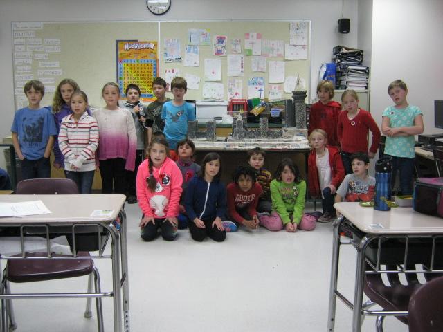 La classe de 4ième année B de l'école catholique Franco-Supérieur ;  Thunder Bay, ON