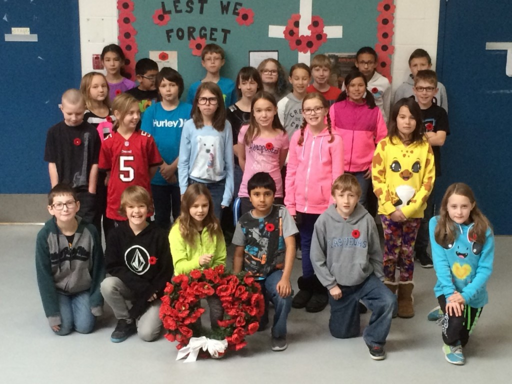 Muriel Clayton Middle School, grade 5. Airdrie, AB