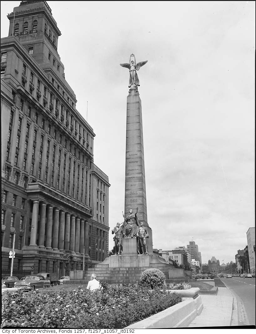 South African War Memorial, 1908, (Walter Seymour Allward). City of Toronto Archives, Fonds 1257, Series 1057, Item 192.