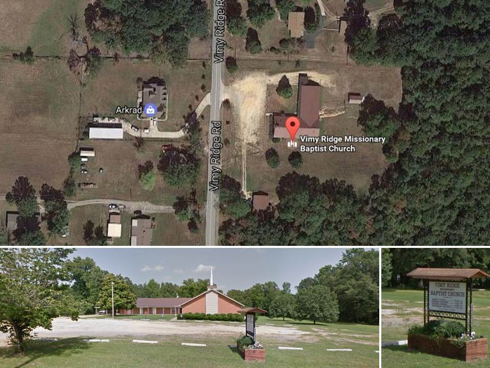 Vimy Ridge Missionary Baptist Church. Courtesy of Google Maps.