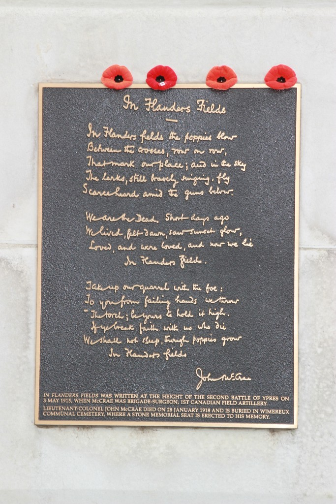 In Flanders Fields Memorial, Ypres, Belgium. Photo from Mike Di Tomaso.