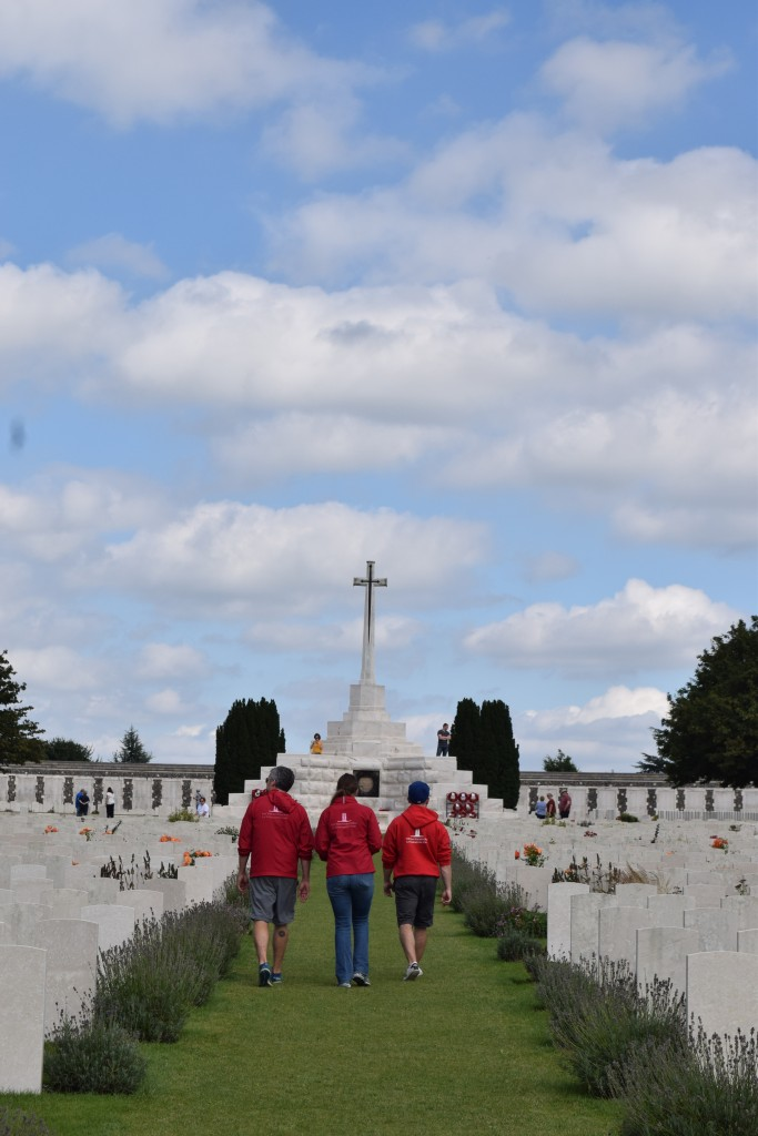 Vimy Foundation students at the Tyne Cot Commonwealth Cemetery. Photo: Andrew Yin